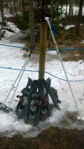 Lumikenkäilyä Puurtilassa
